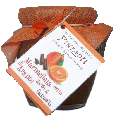 Marmellata Extra di Arance Sarde e Cannella Pintadu