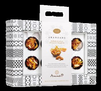 Aranzada Dolcetti di Scorze d'Arancia e Mandorle 80 gr in Astuccio   Anna P