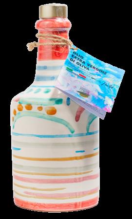 Bottiglia Artistica in Ceramica Corrias 250 ml Olio Extravergine di Oliva   Oleificio Giovanni Matteo Corrias