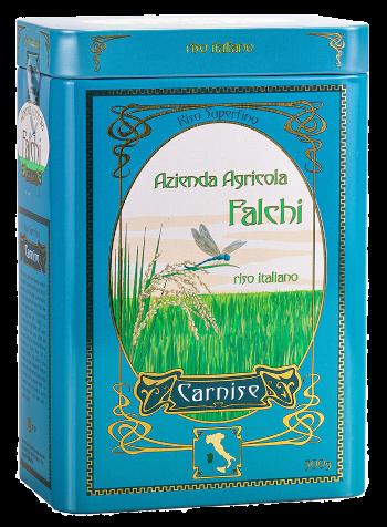 Carnise Riso Superfino Latta 500 gr   Azienda Agricola Falchi