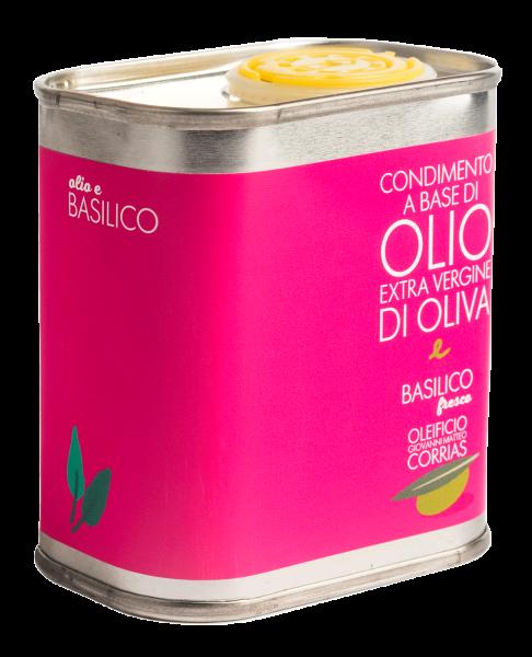 Condimento di Olio e Basilico Fresco 175 ml   Oleificio Matteo Corrias