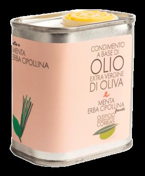 Condimento di Olio e Menta ed Erba Cipollina 175 ml   Oleificio Giovanni Matteo Corrias
