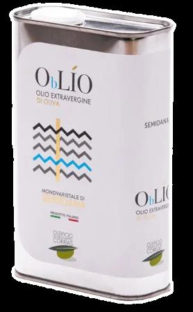 Oblio Semidana Latta 500 ml Olio Extravergine di Oliva   Oleificio Giovanni Matteo Corrias