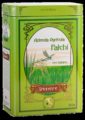 Venere Riso Nero Integrale Latta 500 gr   Azienda Agricola Falchi